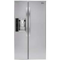 LG LSXS26326S Refrigerator 26.16 cu. ft. Side by Side Refrigerator in Stainless Steel (Scratch and Dent Model)
