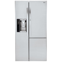 LG LSXS26386S 26.1 cu. ft. Side-by-Side Refrigerator with Door-in-Door - Stainless Steel - New w/Tiny Cosmetic Blemish