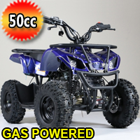 50cc Kids Atv Gas Powered Four Wheeler Quad Fully Automatic With 40cc Motor - 7B PLUS