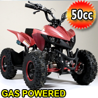 50cc Gas Atv Sport Quad With Electric Start & Throttle Limiter W/ 58cc Motor - Model 6B PLUS