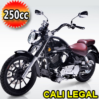 "Lifan KPR 200cc Motorcycle Street Legal Scooter Moped with 6 Speed Manual Trans & 17"" Alloy Wheels - Cali Legal"