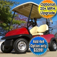 48V Maroon Club Car Precedent Electric Golf Cart