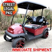 48v Electric Club Car Precedent Golf Cart Maroon  Master Edition With Custom Rims Lights 2 Tone Seats & More