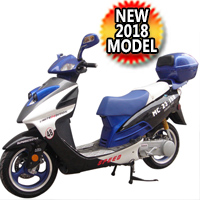 150cc MC-23Y-150 Air-Cooled 4 Stroke Electric Start Moped Scooter - MC-23Y-150