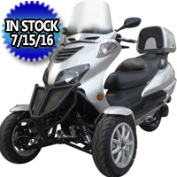 150cc Three-Wheel Super Trike Scooter Moped