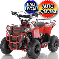 Apollo Series 110cc Mini Commander Automatic w/Reverse Utility ATV (Hand Shift) - MINI COMMANDER 110CC - AUTO WITH REVERSE