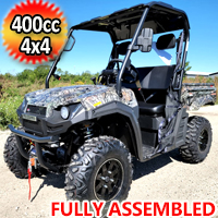 400cc T-BOSS 410 Gas Golf Cart UTV Utility Vehicle 2 Seater 25.5HP 2WD/4WD With Dump Bed - CAMO