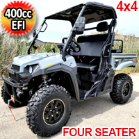400cc T-BOSS 410 Gas Golf Cart UTV Utility Vehicle 4 Seater 25.5HP 2WD/4WD With Dump Bed - Contender Edition