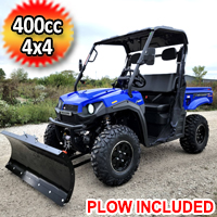 400cc UTV With Snow Plow T-BOSS 410 Gas Golf Cart ATV Utility Vehicle 2 Seater 25.5HP 2WD/4WD With Dump Bed