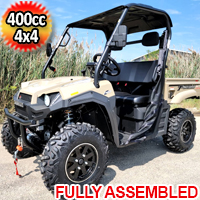 400cc T-BOSS 410 Gas Golf Cart UTV Utility Vehicle 2 Seater 25.5HP 2WD/4WD With Dump Bed - QUICK SAND