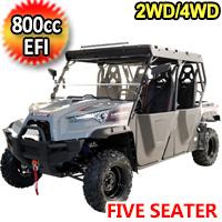 800cc 4 Stroke EFI Utility Vehicle 2WD/4WD 5 Seater UTV - MSU-800-5