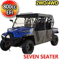 800cc 4 Stroke EFI Utility Vehicle 2WD/4WD 6 OR 7 Seater Contender Edition UTV - MSU-800-7