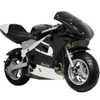 MotoTec 33cc 2-Stroke Gas Pocket Bike - Black