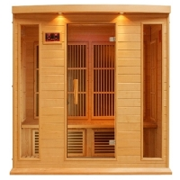 4 Person Sauna Carbon FAR Infrared Maxxus - Hemlock - CD radio with FM and MP3 auxiliary / SD and USB connection