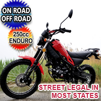 250cc Magician Dirt Bike Enduro Dual Sport 5 Speed Manual w/ Electric Start