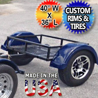 """Motorcycle/Car Pull Behind Trailer 48"""" X 28"""" X 19"""" Aluminum White Plate Enclosed Motorcycle / Car Trailer"""