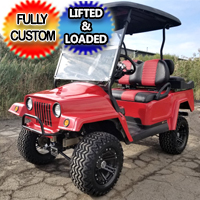 Custom Club Car Mini Truck 4 Seat Golf Cart With Many Custom Add Ons