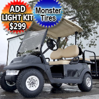 48v Electric Club Car Precedent Golf Cart Monster Grip w/Oversized Tires