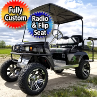Ez Go 36v TXT Electric Golf Cart Four Seater Lifted And Loaded
