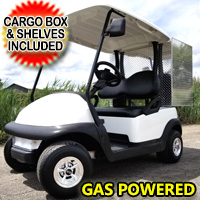 GAS Club Car Golf Cart Precedent With Cargo Box -  Moon White
