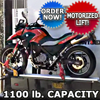Motorcycle Carrier Lift For RV Truck, Van, SUV 1100 lb Capacity for Scooters Dirt Bikes and More