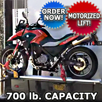 Motorcycle Carrier Lift For RV Truck, Van, SUV 700 lb Capacity for Scooters Dirt Bikes and More