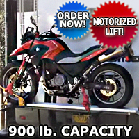 Motorcycle Carrier Lift For RV Truck, Van, SUV 900 lb Capacity for Scooters Dirt Bikes and More