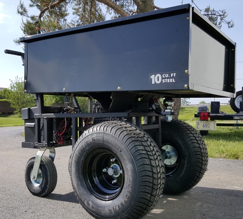 Motorized Cart Electric Powered W Trailer Dolly 10cu