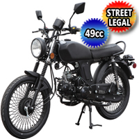 49cc Flash Back Scooter Moped Motorcycle With Semi Auto & Elec. / Kick Start