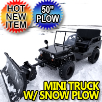 Mini Truck With Snow Plow Utility Mini jeep UTV Off-Road Vehicle Snow Puncher