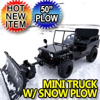 Mini Truck Utv Atv With Snow Plow Utility Mini jeep UTV Off-Road Vehicle Snow Puncher