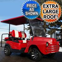47' Old Truck Cherry Red 48v Custom Club Car Golf