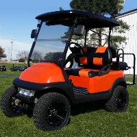 48v Orange Lifted Electric Club Car Golf Cart