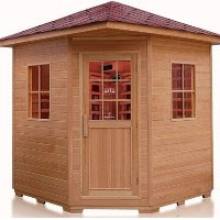 Large 4 -5  Person Outdoor FIR Far Infrared Sauna