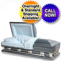 OVERSIZED 18 Gauge Steel Casket (Blue Shading)