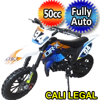 Holeshot-X 50cc Dirt Bike Fully Automatic Pit Bike - HOLESHOT-X (PAD50-2)