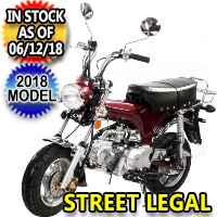 125cc Champion Motorcycle Moped Scooter 4 Speed Semi-Auto - PBZ125-2