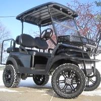 Black Pipe Line Edition Club Car Precedent Lifted Electric Golf Cart