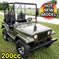 Brand New Gas Golf Cart UTV Pitbull 200 Side by Side UTV