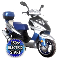 150cc Air Cooled 4 Stroke Moped Scooter