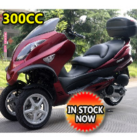 ATLAS 300cc 3 Wheel Trike Scooter Moped
