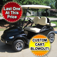 48v Electric PT Cruiser Custom Club Car Golf Cart - Black