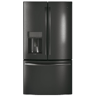 GE Profile PYD22KBLTS 22.2 Cu. Ft. Black Stainless Steel French Door Refrigerator - New w/Tiny Cosmetic Blemish