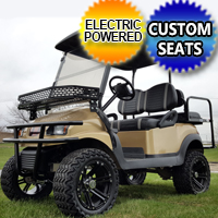 48v Club Car Gold Phantom Custom Golf Cart