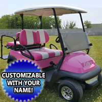 48v Electric Club Car Precedent Golf Cart w/ Light Kit & Rear Flip Seat