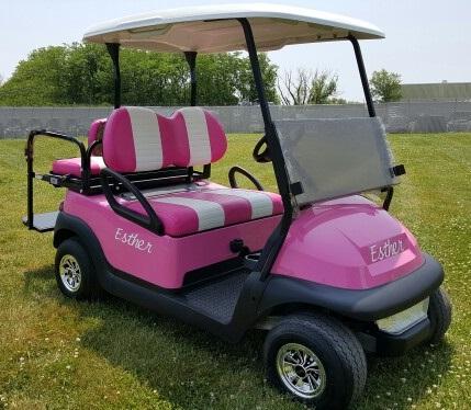 48v electric club car precedent golf cart w light kit rear flip. Black Bedroom Furniture Sets. Home Design Ideas