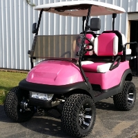 48v Pink Lifted Electric Club Car Golf Cart