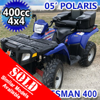 2005 Polaris Sportsman 400 4x4 Quad Atv Fully Auto With Reverse - Excellent Condition
