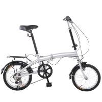 "APEX 16"" Folding 6 Speed Bike with Fenders & Rear Rack"