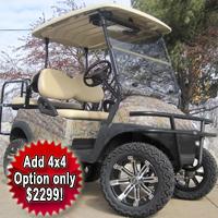 48V Real Tree Texture Leaf Club Car Precedent Lifted Electric Golf Cart